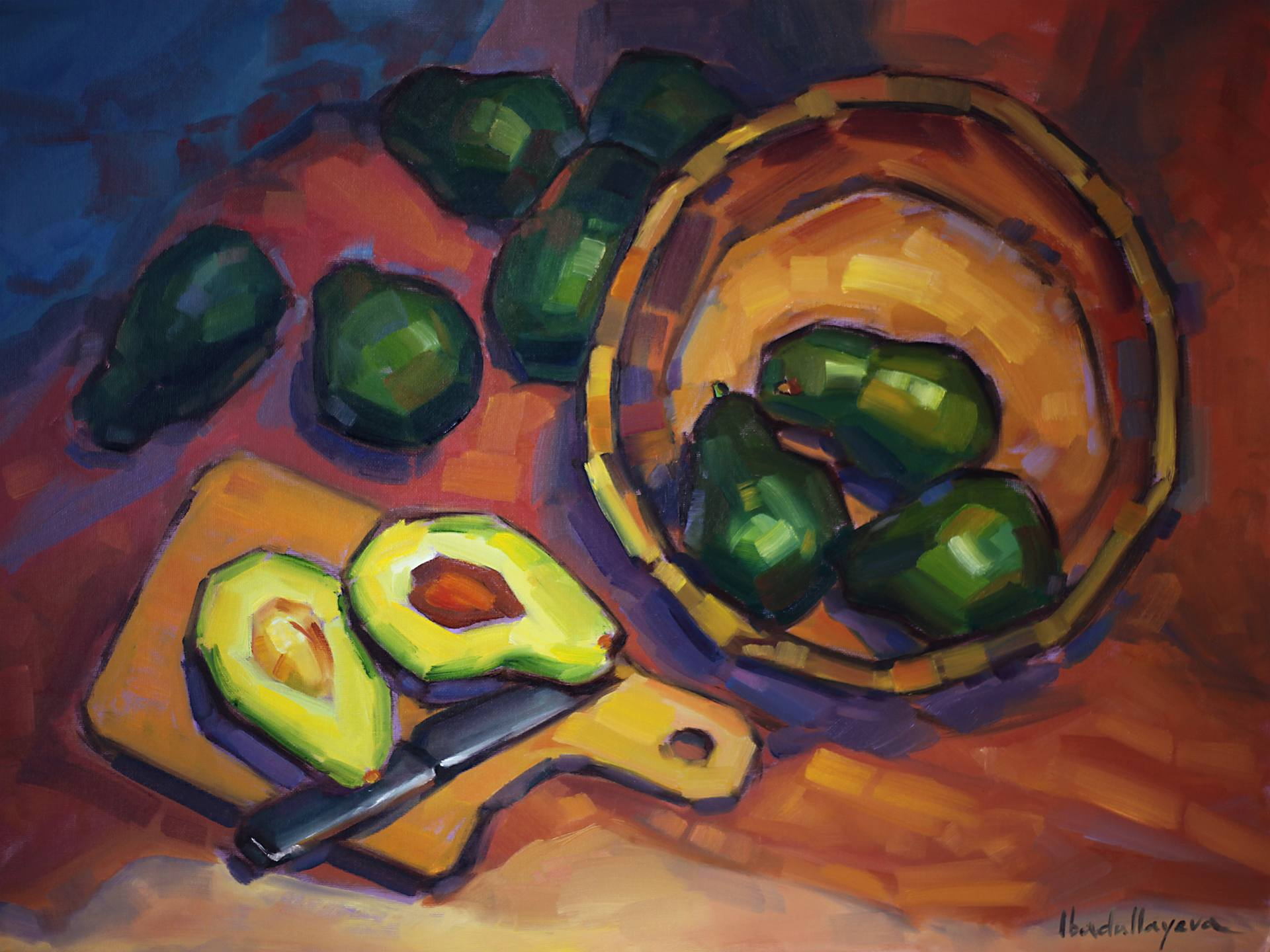 Still Life with Avocados